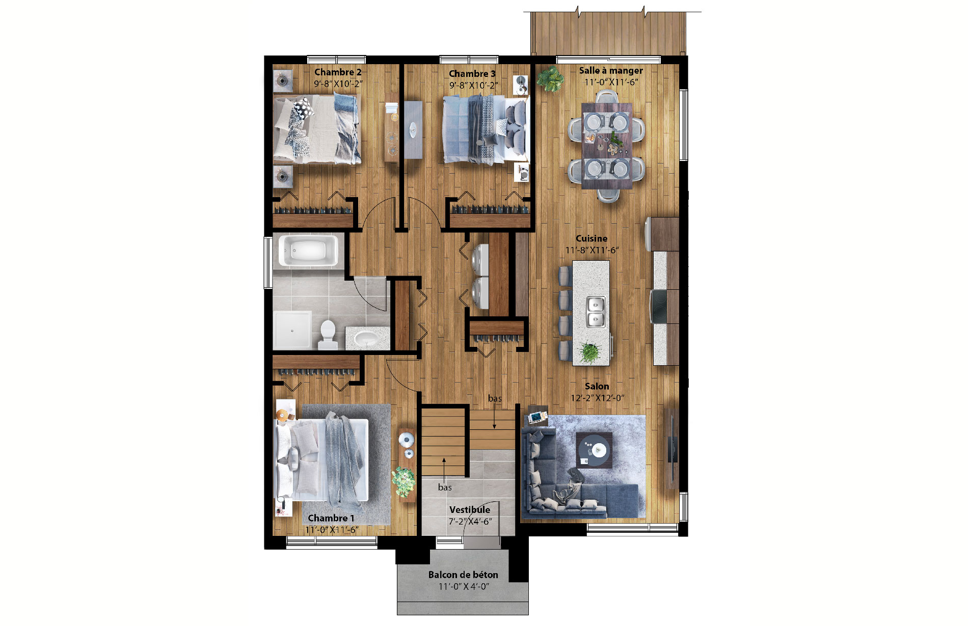 Pynta-Plancher-1-option-3-chambres